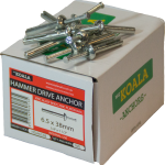 Hammer Drive Anchor 6.5 x 38mm 100 box