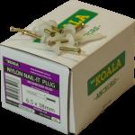 Nylon Nail-it Plug Mushroom Head 6.5 x 38mm 100 box